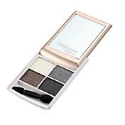 4 Paleta de Sombras de Ojos Brillo Paleta de sombra de ojos Polvo Normal Maquillaje de Diario
