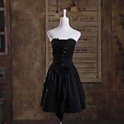 ワンピース/ドレス ゴスロリータ プリンセス コスプレ ロリータドレス ゼブラプリント ノースリーブ ショート丈 ドレス ために コットン