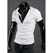Langdeng Casual Harem en capas de manga corta camiseta (blanca)