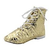 oro divididas punto botas de piel de cabritilla de baile de jazz / mujer única de patentes (más colores)
