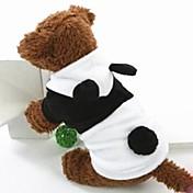 Perros Disfraces Saco y Capucha Negro Blanco Ropa para Perro Invierno Primavera/Otoño Animal Adorable Cosplay