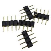 (5pçs) 4 pinos conector macho para rgb 5050/3528 luz LED da tira conectar