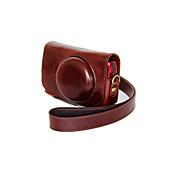 dengpin® pu bolsa de cuero caja de la cámara cubierta con correa para el hombro para Canon Powershot SX700 HS sx710 hs (colores surtidos)