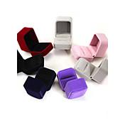 6 * 5 * franela 4cm / aretes / anillo / cajas de la joyería 1pc