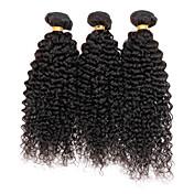 Cabello humano Cabello Peruano Tejidos Humanos Cabello Rizado rizado Ondulado Extensiones de cabello 3 Piezas Negro Color natural