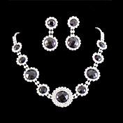Conjunto de joyas De mujeres Aniversario / Boda / Pedida / Cumpleaños / Regalo / Fiesta / Ocasión especial Sets de Joya AleaciónDiamantes