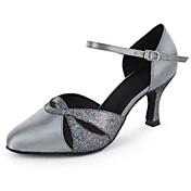 Zapatos de baile(Negro Azul Morado Gris Almendra) -Latino Moderno-Personalizables-Tacón Personalizado