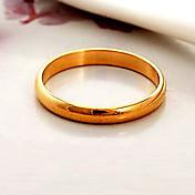 Anéis Casamento / Pesta / Diário / Casual / Esportes Jóias Chapeado Dourado FemininoAnéis de Casal / Anéis Meio Dedo / Anéis Grossos /