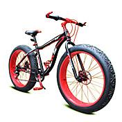 Bicicleta de Montaña Ciclismo 7 Velocidad 26 pulgadas/700CC Shimano Doble Disco de Freno Suspensión por Muelle Monocoque Ordinario Acero