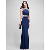 Trompeta / Sirena Joya Hasta el Suelo Jersey Evento Formal Vestido con Cuentas por TS Couture®