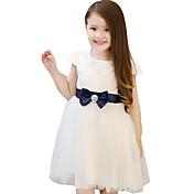 Vestido Chica de-Casual/Diario-Un Color-Nailon-Verano-Rosa / Blanco