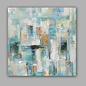 Pintada a mano Abstracto Pinturas de óleo,Modern / Clásico Un Panel Lienzos Pintura al óleo pintada a colgar For Decoración hogareña