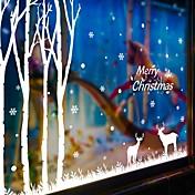 Navidad / Caricatura / Día Festivo Pegatinas de pared Calcomanías de Aviones para Pared Calcomanías Decorativas de Pared,PVC Material