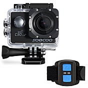 SOOCOO Action Camera / Sports Camera WIFI 4K 60fpsの 120FPS 30fps 24fpsの 240fps 2 128 GB 30 M ユニバーサル オート ダイビング バイク用 バイク サーフィン ウェイクボード トラベル