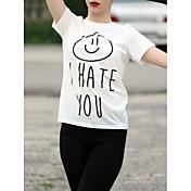 2017 europa le odia las letras impresas cuello redondo manga corta camiseta
