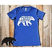 2017 verano nuevas posibilidades reales de cuello redondo camiseta osos europeos y americanos mommabear