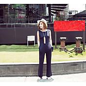 Mujer Sencillo Boho Tiro Alto Microelástico Chinos Pantalones,Ajustado a la Bota Un Color