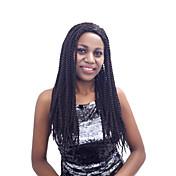 Mujer Pelucas sintéticas Sin Tapa Largo Rizado rizado Marrón Rojo Morado Negro Pelo Ombre Peluca con trenzas Trenzas africanas Entradas