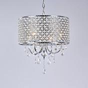 Lámparas Araña ,  Moderno / Contemporáneo Tambor Galvanizado Característica for Cristal Metal Sala de estar Dormitorio Comedor