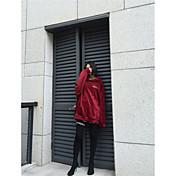Mujer Tallas Grandes Sudadera Casual/Diario Un Color Algodón Manga Larga Primavera