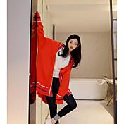 Mujer Largo Cardigan Casual/Diario Un Color Escote en Pico Manga Larga Lana Primavera Otoño Medio Rígido