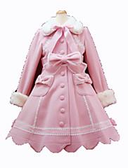 Kabát Gothic Lolita Princeznovské Cosplay Lolita šaty Růžová Černá Módní Dlouhý rukáv Lolita Kabát Pro