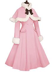 Kabát Gothic Lolita Princeznovské Cosplay Lolita šaty Růžová Černá Bílá Kávová Módní Dlouhý rukáv Lolita Kabát Pro