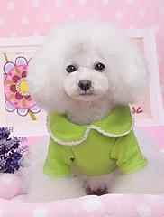 Pes Šaty Oblečení pro psy Běžné/Denní Jednolitý Červená Zelená