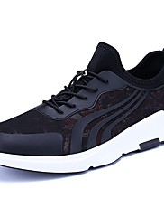 Pánské Obuv Tyl Jaro Podzim Pohodlné Atletické boty Šněrování Pro Ležérní Černá Černočervená