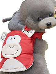 犬 ベスト 犬用ウェア カジュアル/普段着 カートゥーン柄 レッド ブルー