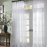 Dvije zavjese Prozor Liječenje Moderna , Jednobojni Bedroom Polyester Materijal Sheer Zavjese Shades Početna Dekoracija For Prozor