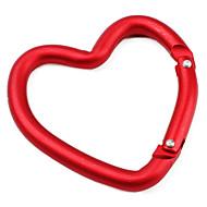 mosquetão em forma de coração (vermelho)