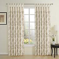 Dva panely Window Léčba Barroco , Novinka 55% lněné plátno / 45% viskózová vlákna Směs lnu a bavlny Materiál záclony závěsy Home dekorace