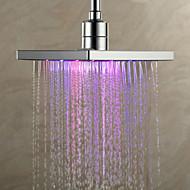 Moderni sadesuihku suihkupää, 8 tuumaa, väriä vaihtava LED suihku