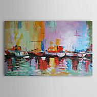 Pintados à mão Abstrato Paisagem Paisagens Abstratas Horizontal,Moderno 1 Painel Pintura a Óleo For Decoração para casa