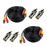 Lot de 2 100 pieds Pieds vidéo Sources Câbles BNC RCA caméra de sécurité fils cordons avec connecteurs Bonus