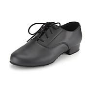 nem szabható gyerekek / férfi tánc cipő társastánc / modern műbőr lapos sarkú fekete