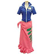 Inspirat de Cosplay Cosplay Anime Costume Cosplay Costume Cosplay Imprimeu Manșon scurt Vârf Fustă Pentru Feminin