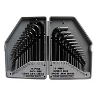 Pro'sKit 8PK-027 30Pcs Metric & Inch Combinatie Hex Key Set