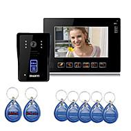 """9 """"Color Monitor Key Touch Vídeo Porteiro telefone campainha Intercom Sistema de IR"""