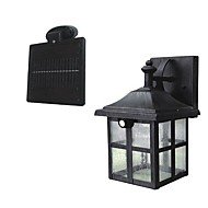 2-LED Super Bright White Solar PIR Motion Sensor væglampe Garden Lamp