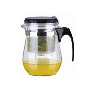 Easy Push Button Sieb Glas Teekanne mit Schloss (500ml)
