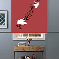Abstract Joy of Playing Guitar Roller Shade