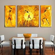 Reprodukce na plátně umění abstraktní lidé dekorativní obraz sada 3