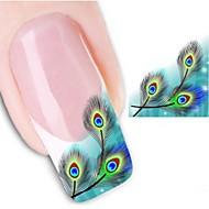 Nail Art tarra Veden siirto Decals 3D Nail Stickers Sarjakuva Abstrakti meikki Kosmeettiset Nail Art Design