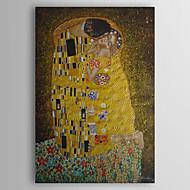Kézzel festett Absztrakt Híres Emberek Függőleges,Klasszikus Modern Hagyományos Egy elem Hang festett olajfestmény For lakberendezési