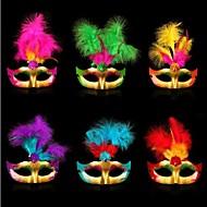 material plástico festa a fantasia máscara de halloween (cor aleatória)
