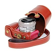 pajiatu® pu lederen camera beschermhoes voor Sony Alpha A5000 ilce-5000 a5100 ilce-5100 nex-3n