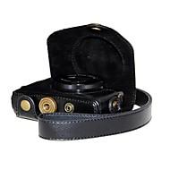 dengpin® במקרה המצלמה תבואה pu עור ליצ'י רטרו עם רצועת כתף עבור g7x x PowerShot G7 הקאנון