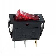 3-Pin-Stecker 2-Stufen-Kippschalter mit Licht (15a / 250v 20a / 125v ac) - (5 Stück)